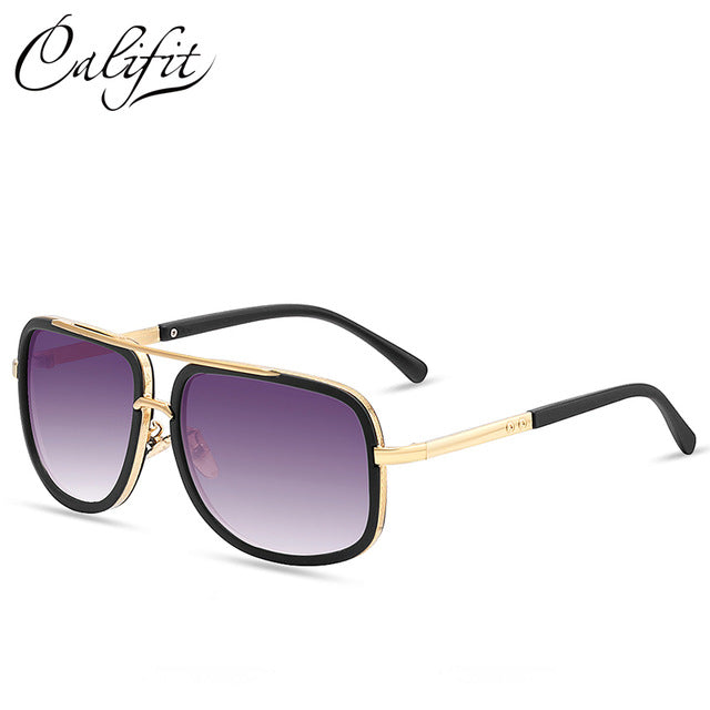 CALIFIT New Sunglasses Men Original Brand Glasses Male vintage sun glasses UV400 Shades Retro Eyewear Fashion Coating Points sun - Zamavi.com