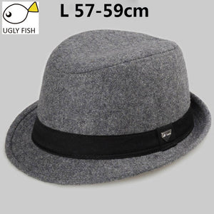 vintage fedora hat  black fedora hats for men wool felt hat mens hats fedoras - Zamavi.com