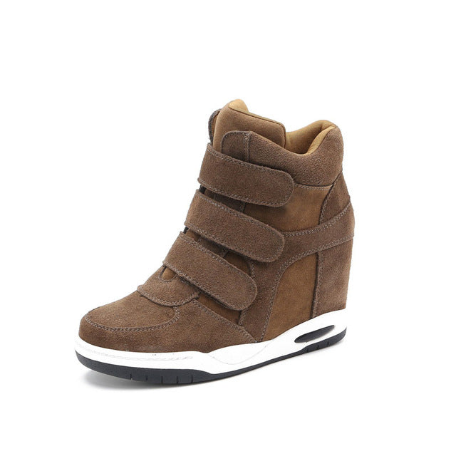 Hot sale Autumn Style Women Shoes Hidden Wedge Heels Boots Women's Elevator Shoes Casual Shoes For Women Ankle Boots LORFRCIN - Zamavi.com