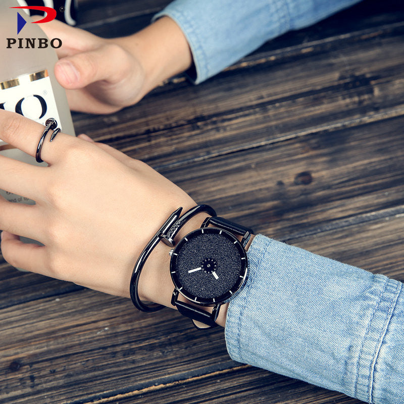 2018 PINBO HOT fashion Starry sky women watches luxury quartz leather strap colock watch A9 Ladies wristwatches reloj mujer - Zamavi.com