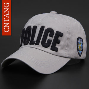 CNTANG Brand Novelty Fashion Letter POLICE Men Caps Casual Cotton Baseball Cap For Women Summer Snapback Hats High Quality Bone - Zamavi.com