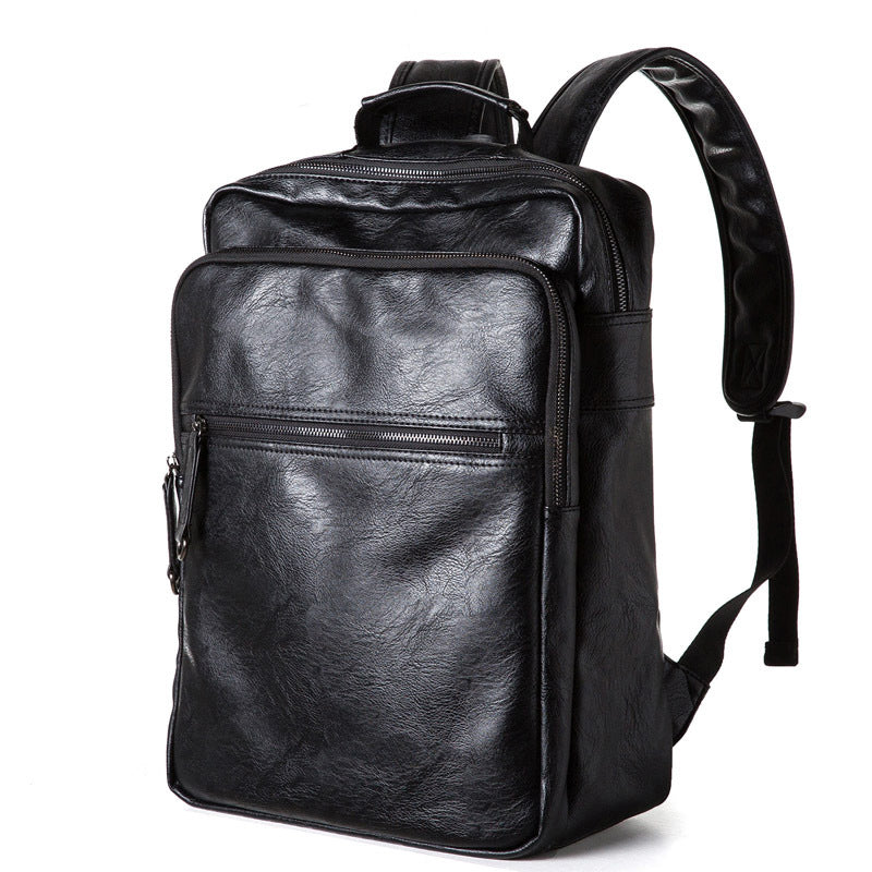 MAIWEINI Oil Wax Leather Backpacks Western Style Fashion Bag For Men Laptop Bags Travel Mochila Zip Casual Daypacks