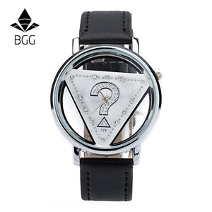 Women Hollow Dial Luxury Quartz-Watch BGG brand ladies Casual Wristwatch Leather Strap dress Watch female clock hour Relojes - Zamavi.com