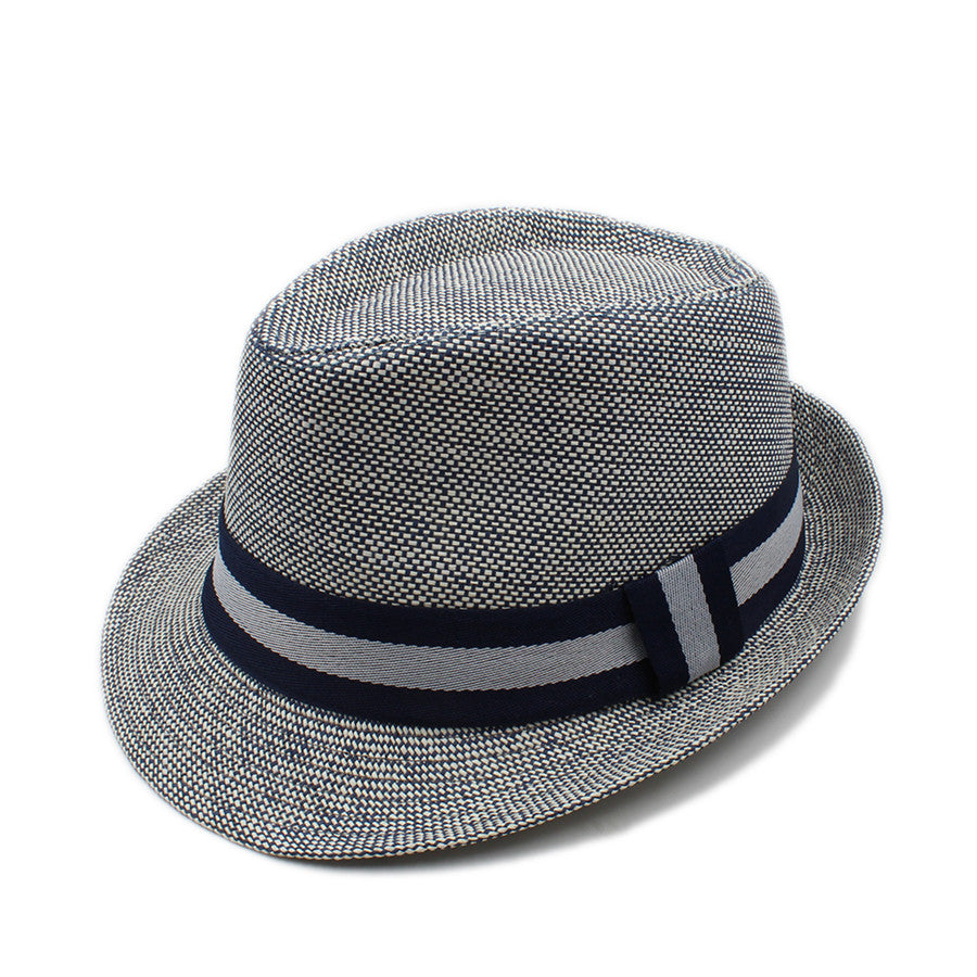 Fashion Summer Women Men Linen Beach Boater Sun Hat For Elegant Lady Gangster Trilby Fedora Cap Gentleman Dad Travel Panama Hat - Zamavi.com