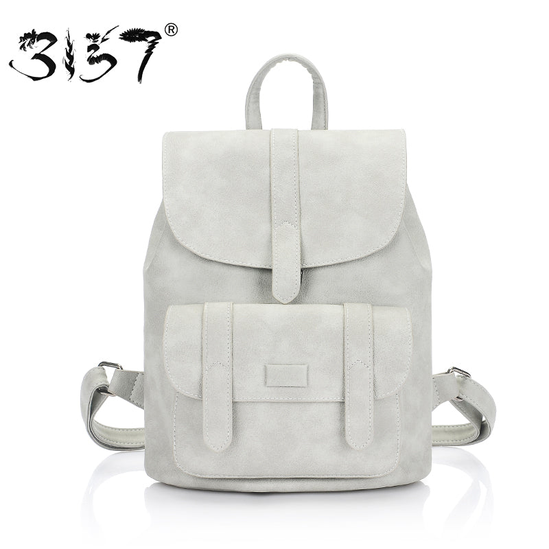 3157 fashion women leather backpack for teengaers girls famous designer cute school bags ladies high quality female backpacks - Zamavi.com