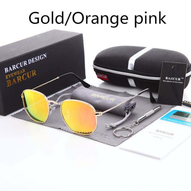 Classic Retro Reflective Sunglasses Man BC3548 Hexagon Sunglasses Metal Frame Eyewear Sun Glasses With Box Oculos De Sol gafas - Zamavi.com