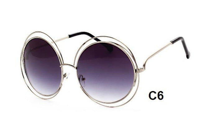 CHUN J36 New Big Circle Round Frame Luxury Brand Designer Sunglasses Female Fashion Eyeglass Oculos Sun Glasses For Women - Zamavi.com