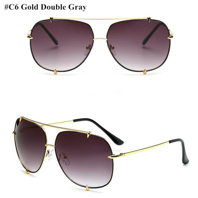 HBK Fashion Oversized Aviator Sunglasses Women UV400 Retro Brand Designer Big Frame Sun Glasses For Female Ladies Eyewear - Zamavi.com