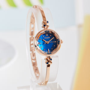Top Women's Watch Julius Japan Quartz Hours Clock Fashion Bracelet Cutting Shell Rhinestone Birthday Girl Christmas Gift Box 878 - Zamavi.com