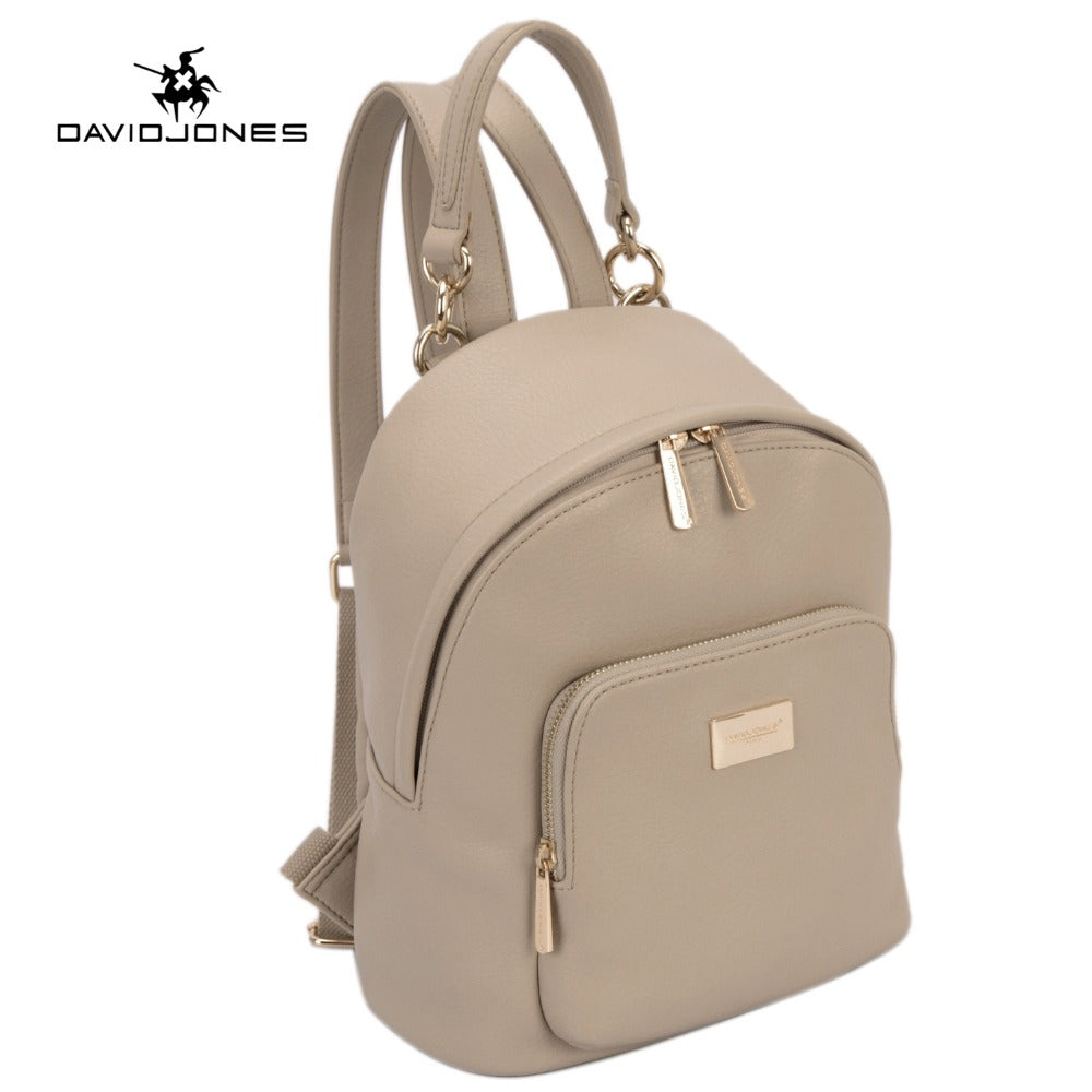 DAVIDJONES Women Backpacks Women's PU Leather Backpacks Female School Shoulder bags Teenage girls college student casual bag - Zamavi.com