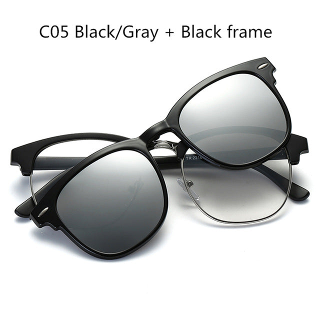 2017 TR90 Sunglasses Clip Magnetic Sunglasses Frame With Clip Sun glasses Include Frame Polarized Clip on Sunglass