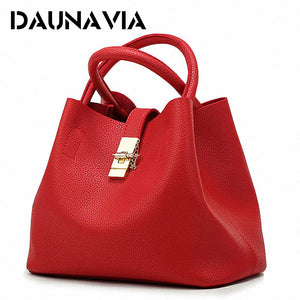 DAUNAVIA- 2017 Vintage Women's Handbags Famous Fashion Brand Candy Shoulder Bags Ladies Totes Simple Trapeze Women Messenger Bag - Zamavi.com