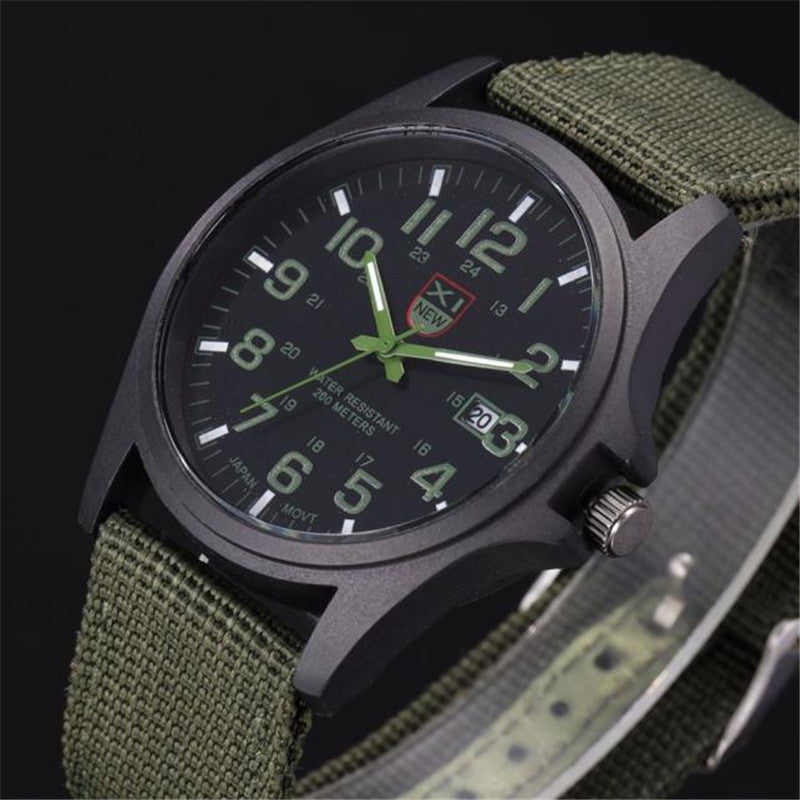 Mens Watches Top Brand Luxury Outdoor Mens Date Stainless Steel Military Sports Analog Quartz Army Wrist Watch Orologio Uomo - Zamavi.com