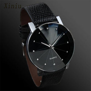 Dress Casual Watch For Men Male Clock  Luxury Quartz Sport Military Stainless Steel Dial PU Leather Band Wrist Watch Men Reloj - Zamavi.com