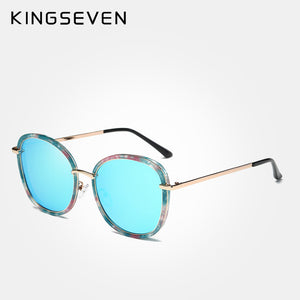 KINGSEVEN 2017 sunglasses ladies retro brand designer luxury mirror mirror camouflage candy color polarized sunglasses - Zamavi.com