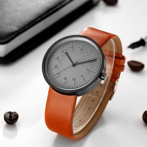 GEEKTHINK Top Luxury Brand Quartz Watch Men Casual Fashion Leather strap Japan quartz-watch Classic Creative clock Male - Zamavi.com