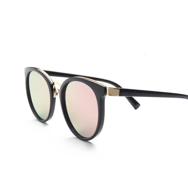 Ladies Cat Eye Sunglasses Women Luxury Brand Fashion Sun Glasses For Women Black Frame Pink Mirror Sunglasses Female UV400 - Zamavi.com