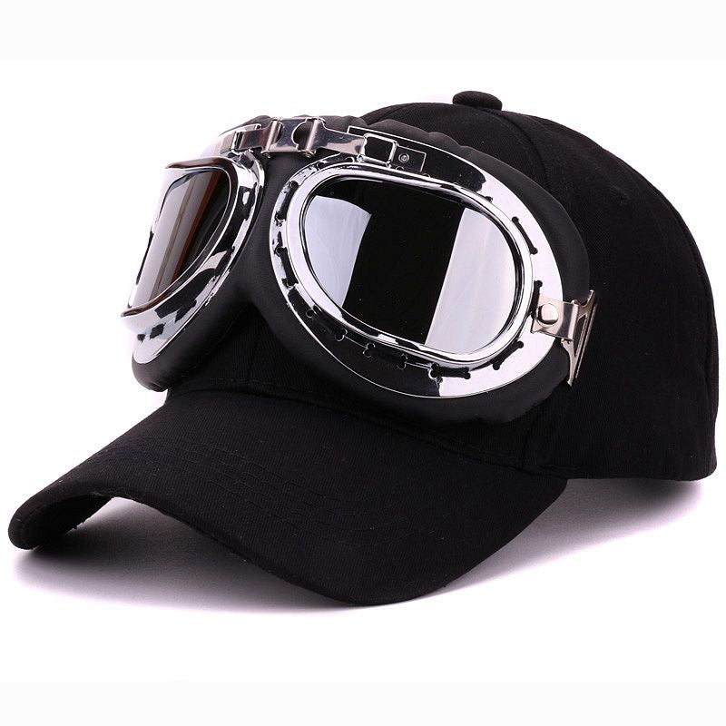 Fancy cotton 6 panels ski goggles baseball cap with polite glasses sports caps decoration novelty halley hat for men and women - Zamavi.com