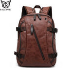BAIJIAWEI Hot Sale Men's Backpack Mix Cow Leather Backpack Casual&Travel Bags Split Leather Backpacks Business Bags For Men - Zamavi.com