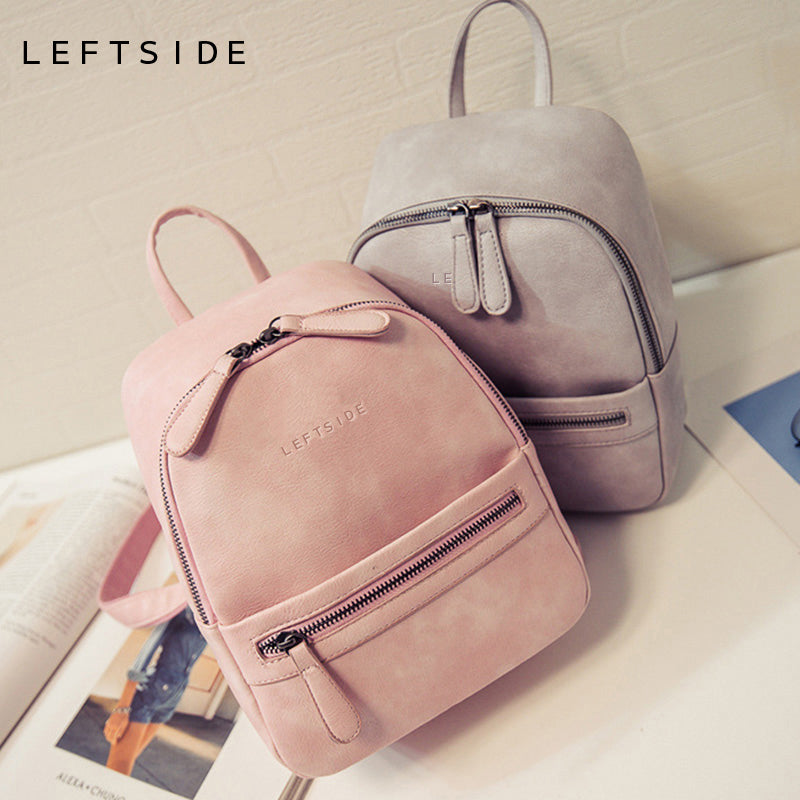 Women Backpack New Fashion Casual PU Leather Female feminine backpack for teenage girls school bag solid mini Small backpack - Zamavi.com