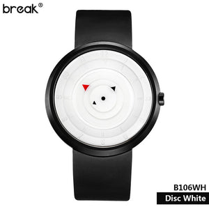 Break Creative Watch Men Top Brand Luxury Rubber Strap Waterproof Matte Light Sports Male Wristwatch Clock Men relogio masculino - Zamavi.com