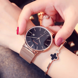 GIMTO Brand Rose Gold Quartz Women Watches Luxury Steel Clock Bracelet Ladies Calendar Wrist Watches Female Sport Relogio Reloj - Zamavi.com