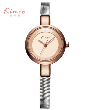 KIMIO Brand Small Dial Watches Women Woven Mesh Band Quartz Luxury Women's Watches Simple Casual Ladies WristWatches Femme Clock - Zamavi.com