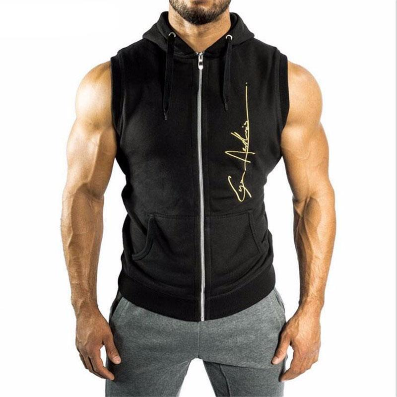 Bodybuilding, Fitness Vest Hoodie For Him - Zamavi.com