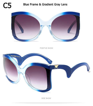 JackJad New Fashion Women Oversized ButterFly Style Gradient Sunglasses Vintage Brand Design Sun Glasses Oculos De Sol Feminino - Zamavi.com