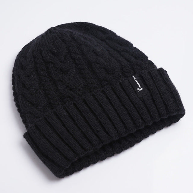 Charles Perra Men Knitted Hats Winter Double Layer Thicken Wool Hat Fashion Trend Casual Male Skullies Beanies 2017 NEW 4315 - Zamavi.com