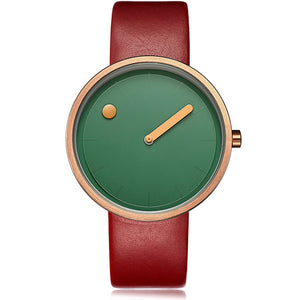 Geekthink Women's Watches Luxury Brand Casual Simple Style Unique Quartz Watches Ladies Leather Band Clock Female Creative Gift - Zamavi.com