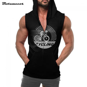 Men's Fitness Sleeveless Hoodie - Zamavi.com