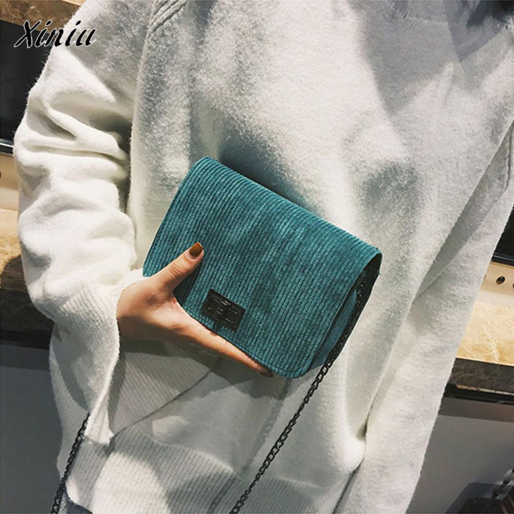 Xiniu brand new fashion women's messenger bags bolsas feminina casual leather clutch wool hasp Handbag crossbody shoulder bags