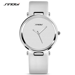 SINOBI Luxury Women Ladies Casual Quartz Wrist Watch Leather Brand Female Dress Clock Lady Watch Montre Femme relogio feminino - Zamavi.com