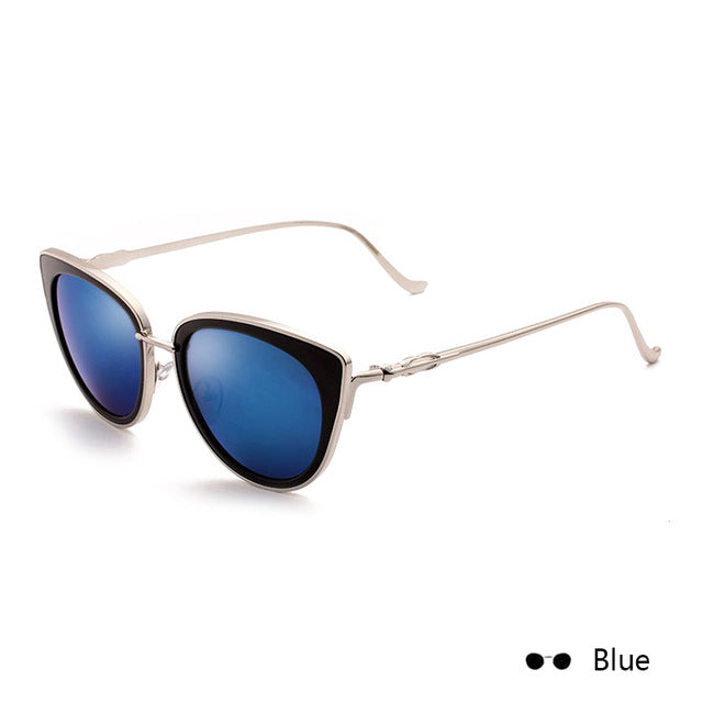 WISH CLUB 2018 New Fashion Brand Designer Sunglasses Women Mirror Sun Glasses Men Metal Male Female Cat Eye Ladies Round Unisex - Zamavi.com
