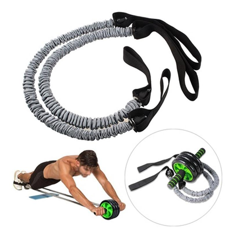Forfar 1 Pair Latex Fitness Exercise Stretch Pull Ropes Abdominal Wheel Accessories for Exercise Fitness Equipment Accessory - Zamavi.com