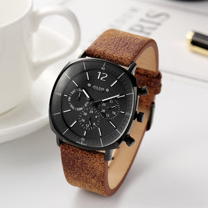 Real Functions Men's Watch ISA Quartz Hours Clock Business Sport Dress Bracelet Leather Boy Birthday Christmas Gift Julius Box - Zamavi.com