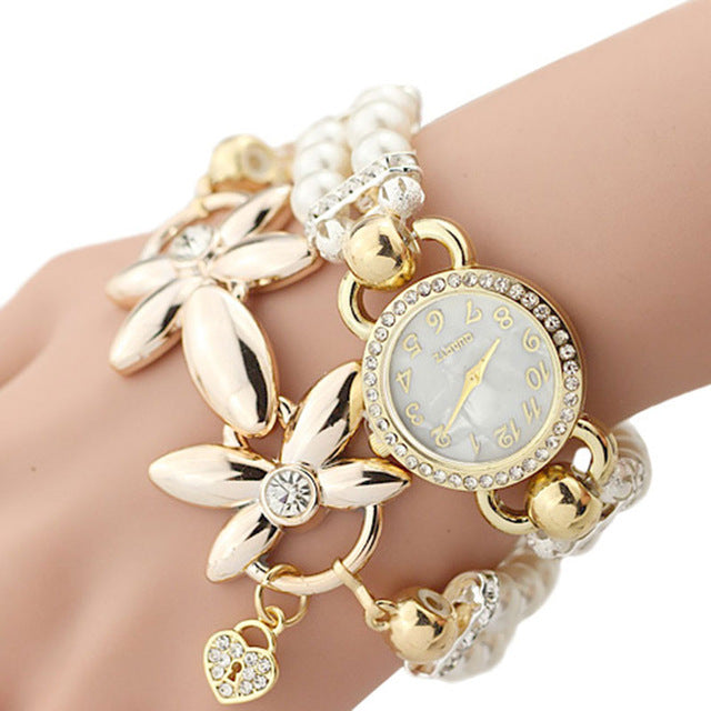 FLOWER GIRL Brand New Quartz Watch Women Watches Ladies Luxury Bracelet Wrist Watch Female Clock Montre Femme Relogio Feminino - Zamavi.com