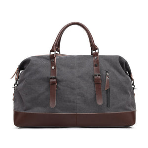 Canvas Leather Men Travel Bag Carry on Luggage Duffel Bags Large Travel Tote Patchwork Weekend Crossbody Bag Overnight XA38WC - Zamavi.com