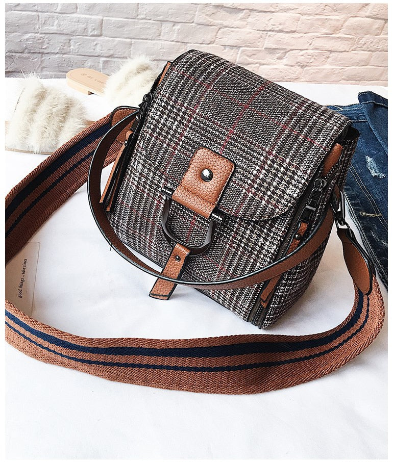 2019 Fashion New Woolen Handbags Women's Designer Handbag Big Women's Tote bag Quality Large-capacity Bucket bags Shoulder Bags - Zamavi.com
