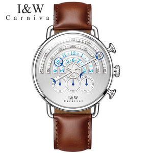 CARNIVAL Men Watch Relogio Masculino Top Brand Luxury Leather Military Watch Clock Men Quartz Watches Relojes Hombre 2017 New - Zamavi.com