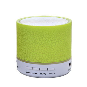 Column LED Mini Wireless Bluetooth Speaker TF USB FM Portable Music Loudspeakers Hand-free call For iPhone 6 Phone PC with Mic - Zamavi.com