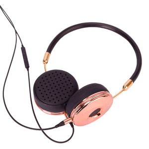 Liboer Headphones Wired On-ear Stereo Headphones for Mobile Phone Best Foldable Headset High Quality Rose Gold Headphone - Zamavi.com