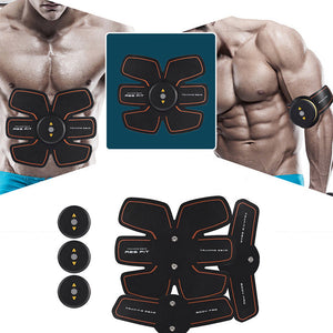New Smart EMS Stimulator Training Fitness Gear Muscle Abdominal Exerciser Toning Belt Battery Abs Fit Muscles Intensive Training - Zamavi.com
