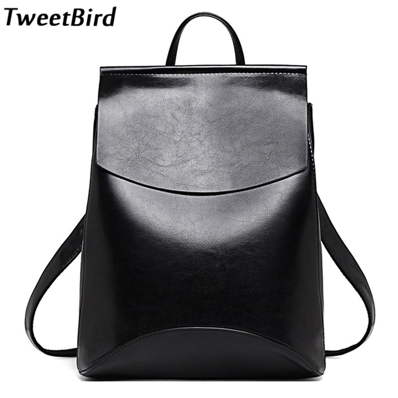 TweetBird New Fashion Women Backpack High Quality Casual Travel Leather Backpack for Teenage Female School Shoulder Bag mochila
