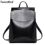 TweetBird New Fashion Women Backpack High Quality Casual Travel Leather Backpack for Teenage Female School Shoulder Bag mochila - Zamavi.com