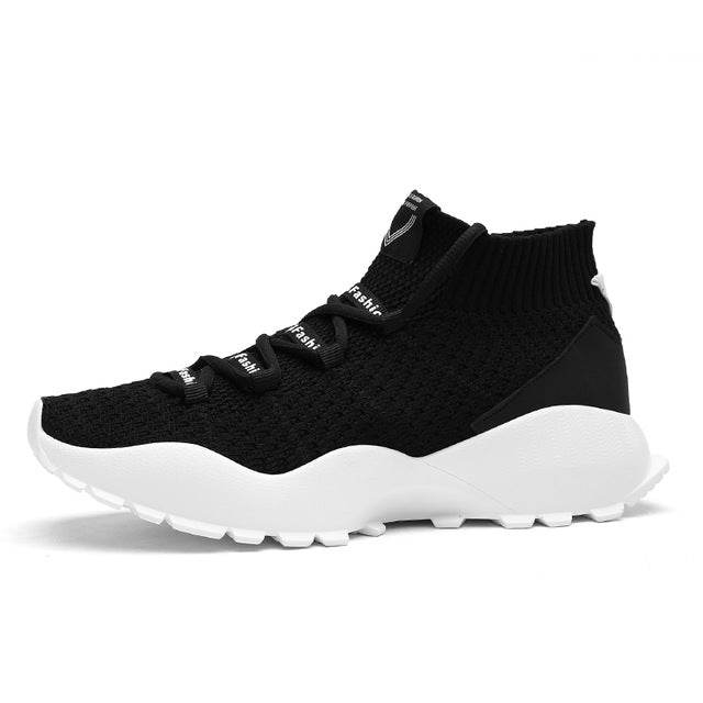 Beita High Top Men Running Shoes Sock Boots Fly Weaving Jogging Men Sneakers Thick Bottom Light Run Sport Shoes Baskets Homme - Zamavi.com