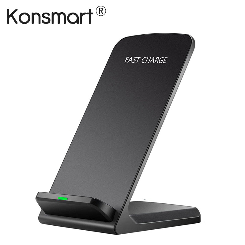 Konsmart Qi Wireless Charger Adapter QC 2.0 Quick Charge Dock Stand For iPhone 8 10 X Samsung S6 S7 S8 Plus Note5 Fast Charging - Zamavi.com