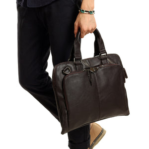 YOWIND 2017 New Fashion male commercial briefcase Leather vintage men's messenger bag casual handbags vintage crossbody bags - Zamavi.com