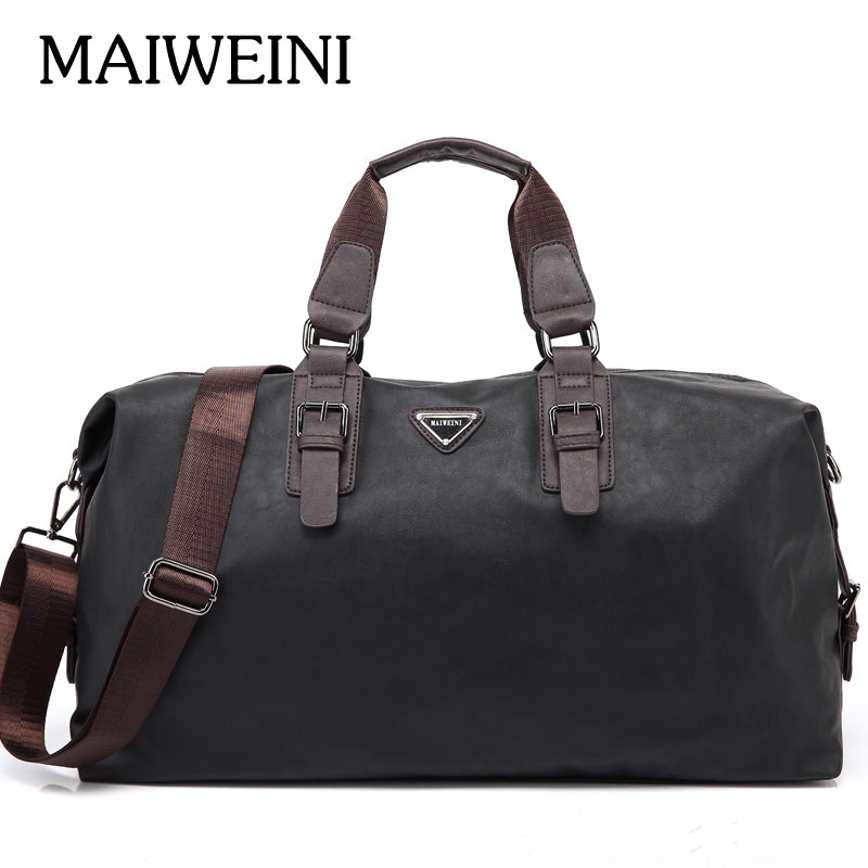 MAIWEINI Brand Waterproof PU&Nylon Handbags For Men Large-Capacity Portable Shoulder Bags Men's Fashion Travel Bags Package